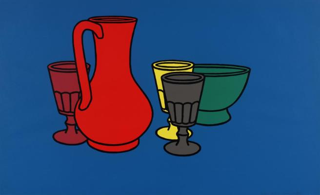 Coloured Still Life 1967 Patrick Caulfield 1936-2005 Presented by Rose and Chris Prater through the Institute of Contemporary Prints 1975 http://www.tate.org.uk/art/work