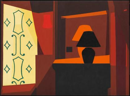 Braque Curtain 2005 Patrick Caulfield 1936-2005 Purchased with assistance from Tate Members 2010 http://www.tate.org.uk/art/work/T13038
