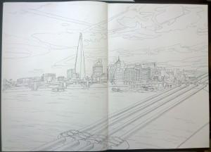 sketch_17.03.16_(58.8x42cm)_London bridges and Bankside