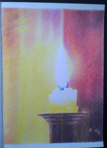 sketch_01.02.17_(29.4x42cm) Candle Kneel Colour