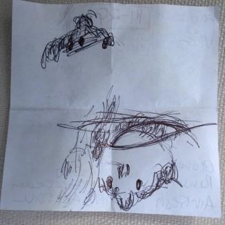 20.07.14 sketch upside down (9x9cm) Cherry Tree face